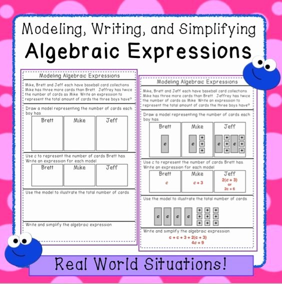 Writing Algebraic Expressions Worksheet Luxury Algebraic Expressions 6th Grade Practice Practice