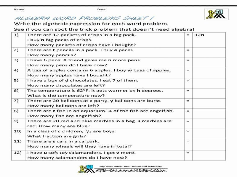 Writing and Evaluating Expressions Worksheet Elegant Writing Expressions Worksheet