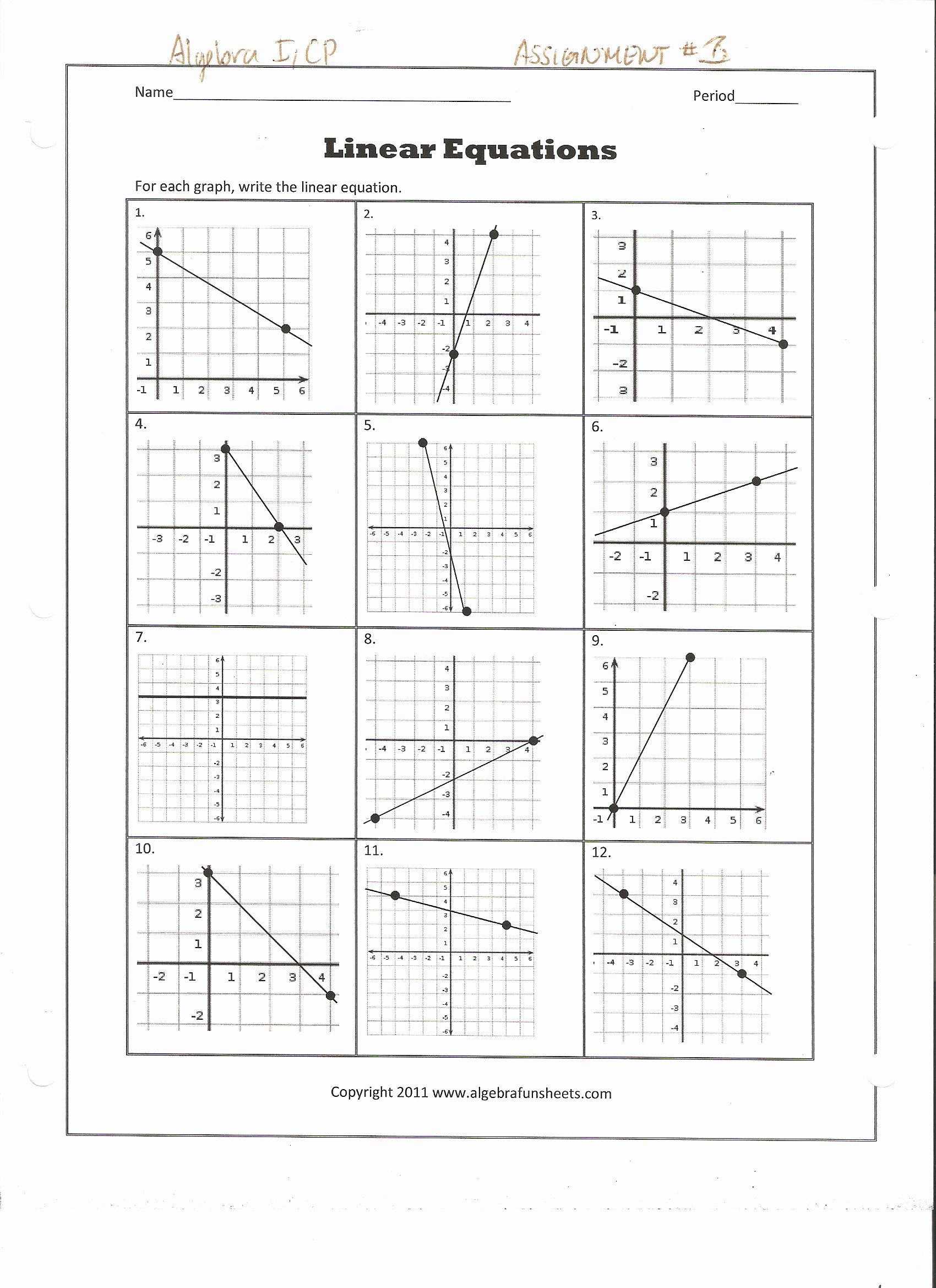 Writing Equations From Graphs Worksheet Awesome Writing Equations From Graphs and Tables Worksheet the