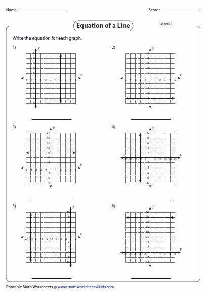 Writing Equations From Graphs Worksheet Beautiful Graphing Linear Equation Worksheets