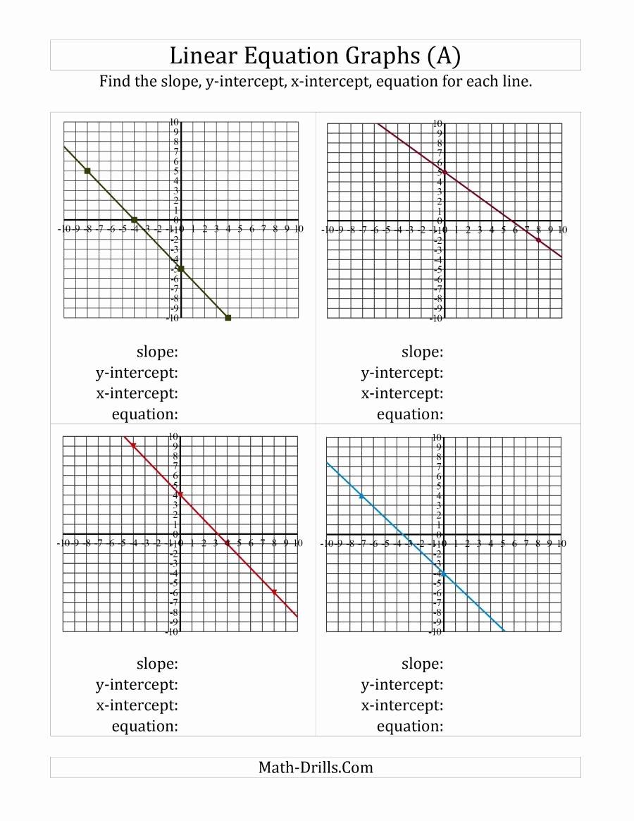 Writing Equations From Graphs Worksheet Lovely Worksheet Graphing In Slope Intercept form Worksheet