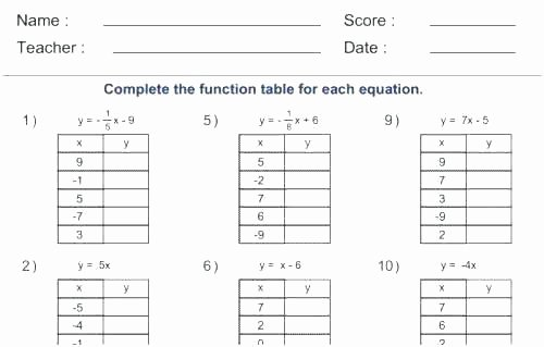 Writing Equations From Tables Worksheet Elegant Writing Linear Equations From Tables Worksheet