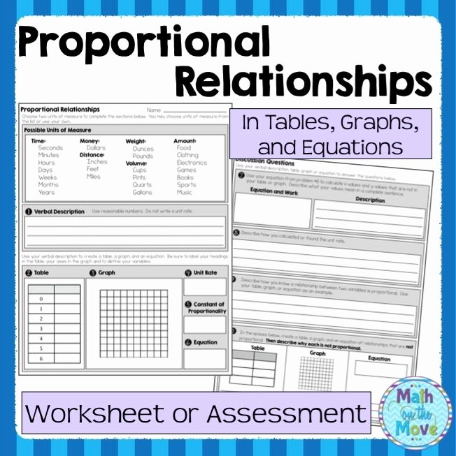 Writing Equations From Tables Worksheet Luxury Proportional Relationships Worksheet assessment 7 Rp 2