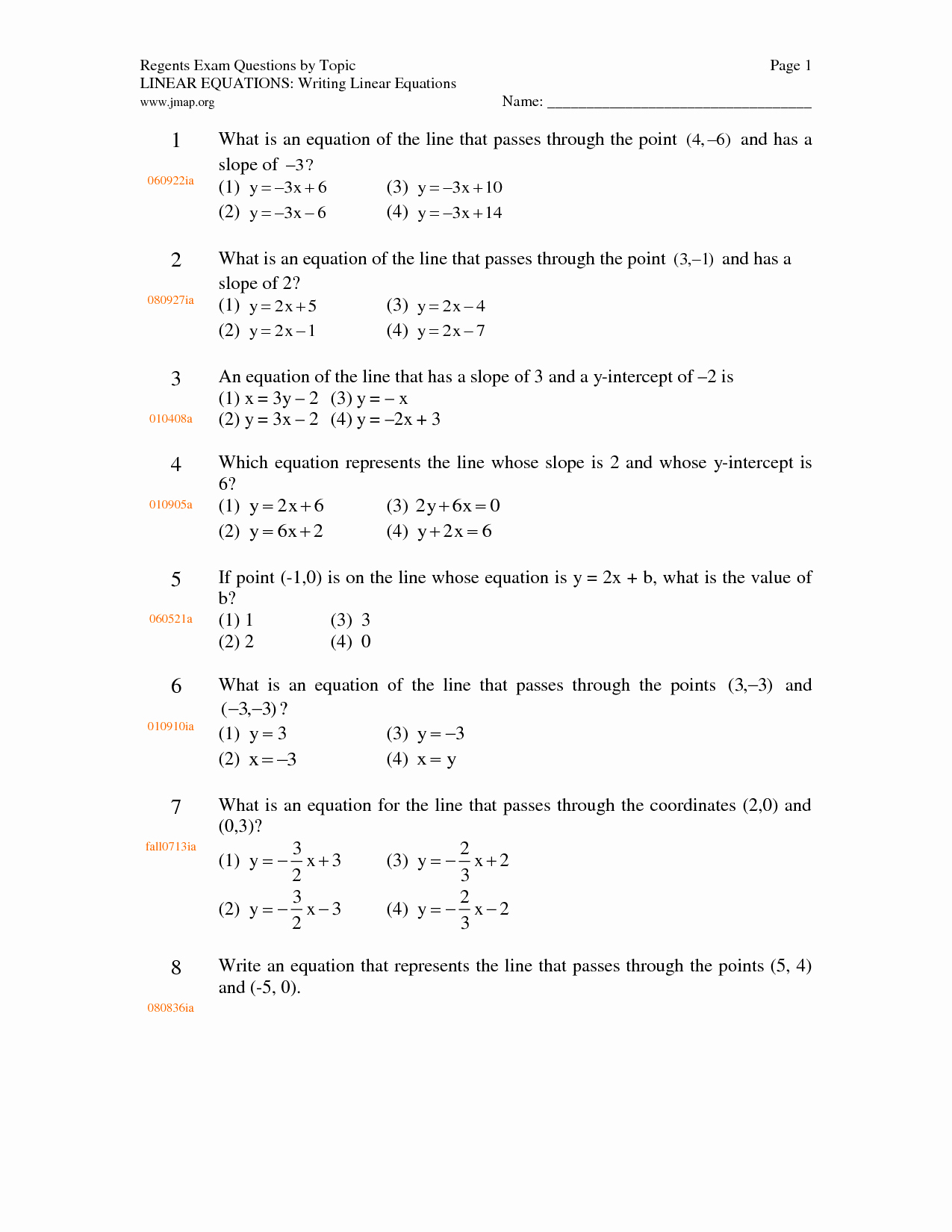 Writing Equations Of Lines Worksheet Elegant Writing Linear Equations Worksheet Doc