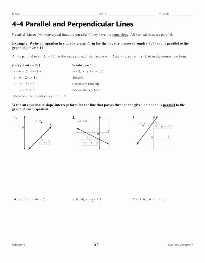 Writing Equations Of Lines Worksheet New Parallel and Perpendicular Worksheet – Techandhumanity