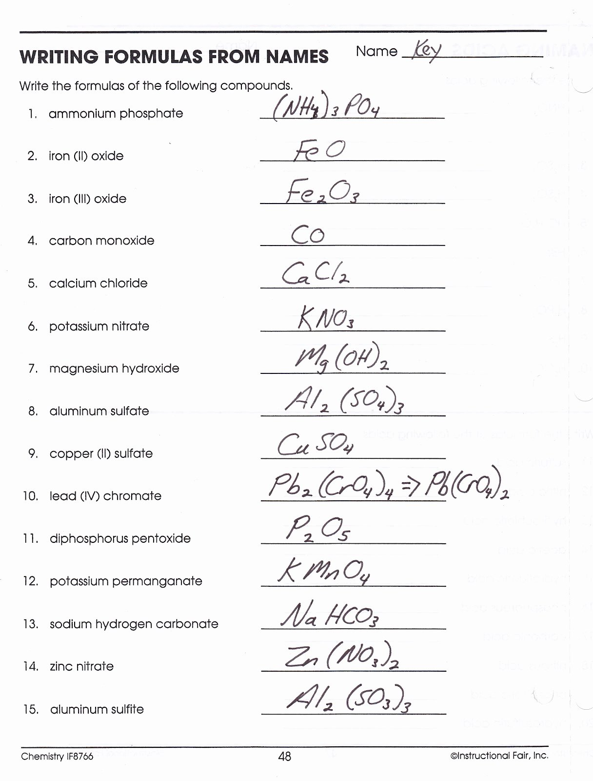 Writing Ionic formulas Worksheet Awesome Chemical formula Writing Worksheet Write Chemical formulas