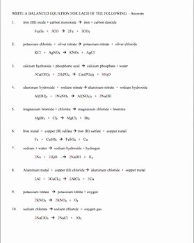 Writing Ionic formulas Worksheet Unique Chemical formulas and Balancing Chemical Equations by Amy