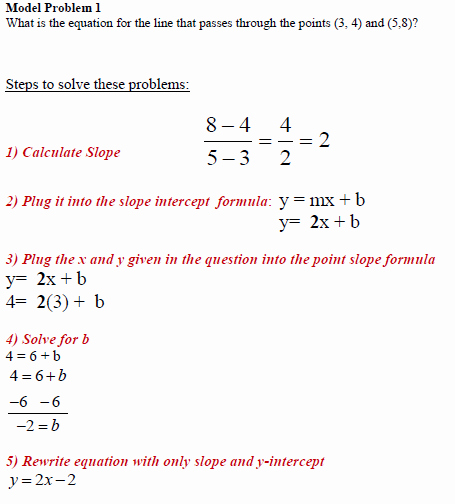 Writing Linear Equations Worksheet Answer Fresh Write Equation From Two Points Worksheet with Model