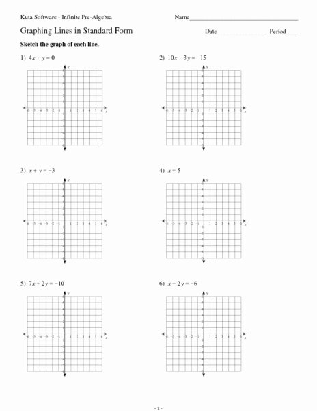 Writing Linear Equations Worksheet Answer Luxury Graphing Lines In Standard form Worksheet for 9th 11th