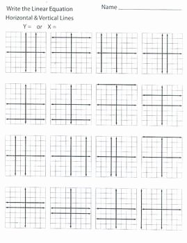 Writing Linear Equations Worksheet Answer Unique Writing Linear Equations Horizontal and Vertical Lines