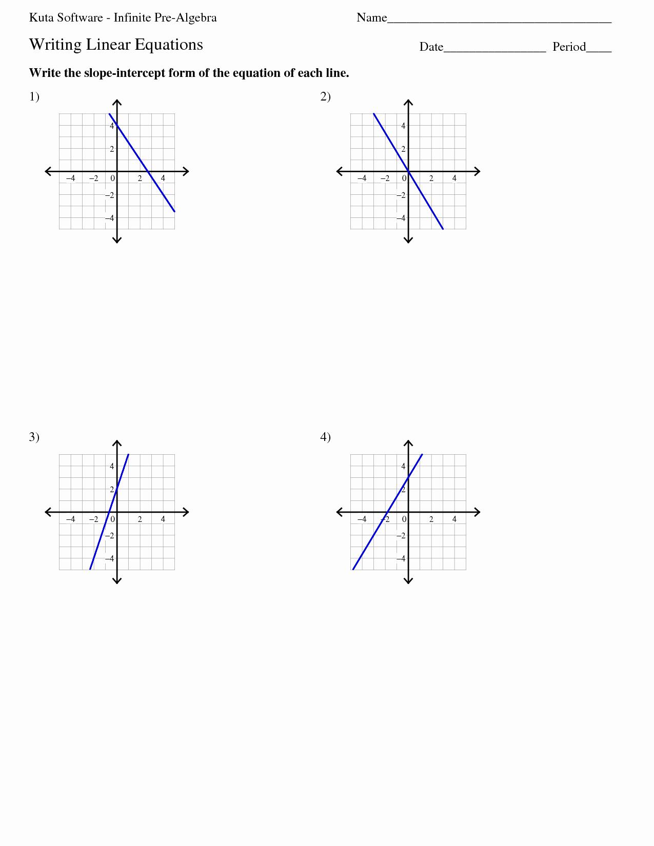 Writing Linear Equations Worksheet Answers Beautiful Algebra 1 Point Slope form Worksheet Key Point Slope