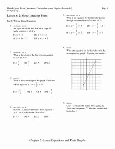 Writing Linear Equations Worksheet Answers Unique Writing Linear Equations Worksheet for 9th 11th Grade