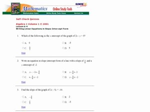 Writing Linear Equations Worksheet Unique Writing Linear Equations In Slope Intercept form 8th 9th