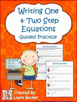 Writing Two Step Equations Worksheet Awesome Writing Equations From Word Problems Mon Core 7 Ee 6
