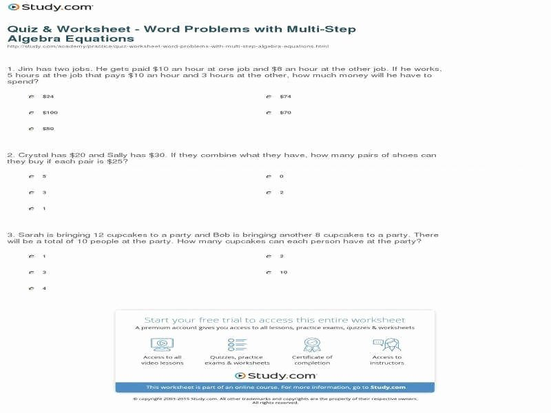 Writing Two Step Equations Worksheet Beautiful Writing Equations From Word Problems Worksheet