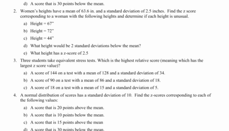 Z Score Practice Worksheet Awesome Cool Zscore Practice Worksheet E Example From top 5
