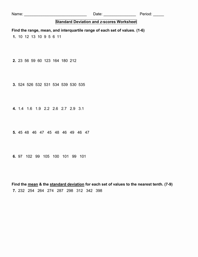 Z Score Practice Worksheet Beautiful Z Score Practice Worksheet Answers