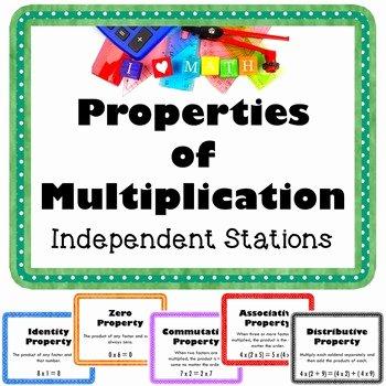 Zero Product Property Worksheet Elegant Properties Of Multiplication Vocabulary Math Stations